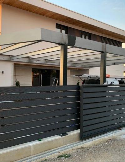 dvorišna vrata izrada dvorišnih vrata alumix zagreb dvorišna vrata izrada montiranje vrata montaža dvorište