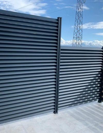 zaštita od pogleda ograda za kuću metalna ograda akcija nova ograda zaštita od pogleda alumix zagreb izrada