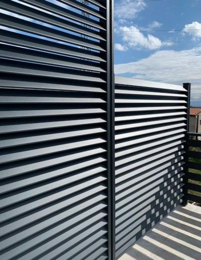 zaštita od pogleda ograda za kuću metalna ograda akcija nova ograda zaštita od pogleda alumix zagreb montaža