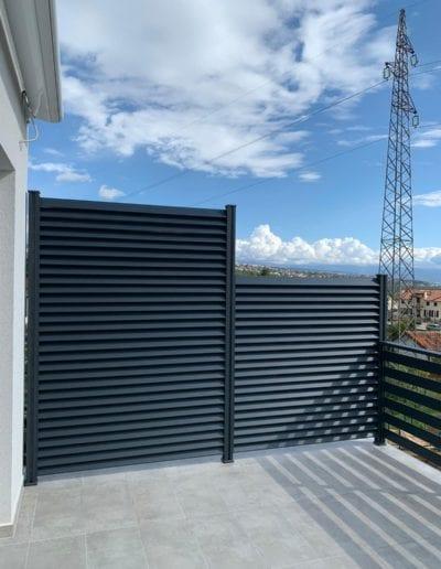 zaštita od pogleda ograda za kuću metalna ograda akcija nova ograda zaštita od pogleda alumix zagreb postavljanje
